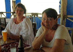 Paivi & Kristiina at lunch