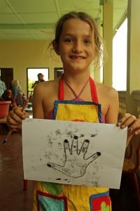 CEF girl & hand print