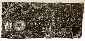 large plaster print